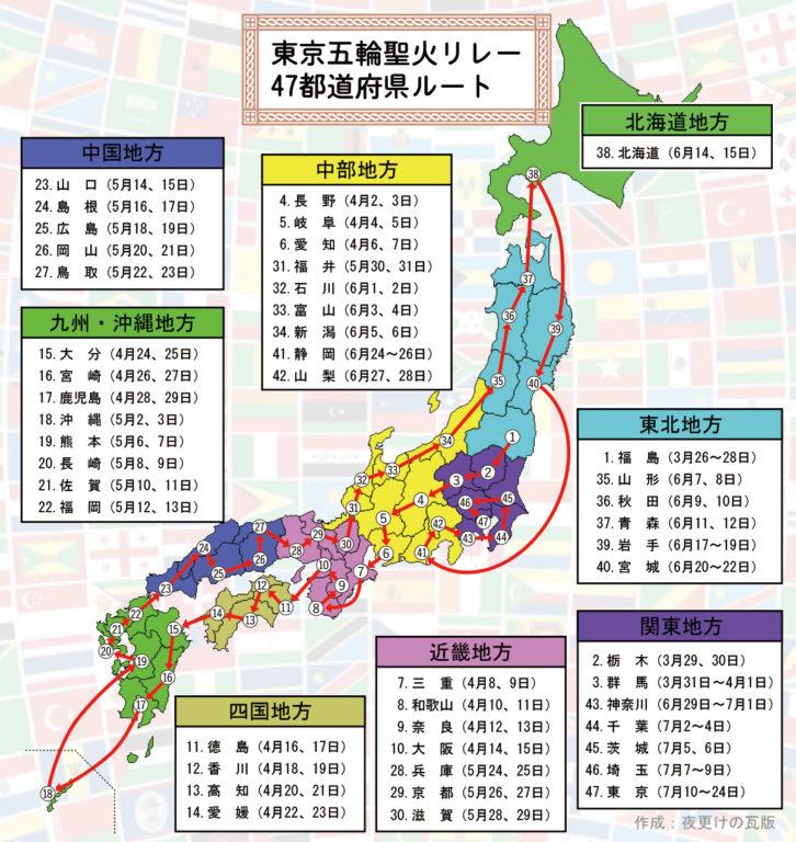 聖火ランナー,都道府県